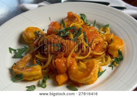 Linguine Con Scampi, Linguine and Shrimp