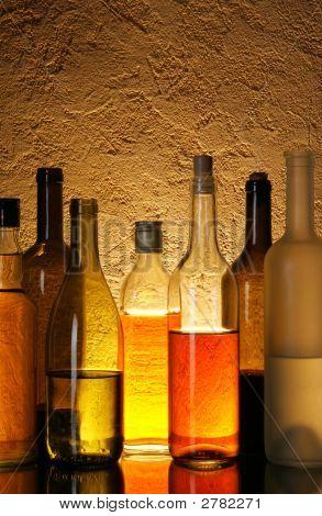 Постер, плакат: Алкогольные напитки, холст на подрамнике