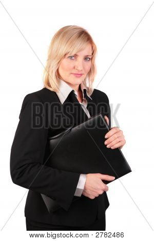 Middleaged Businesswoman With Black Folder