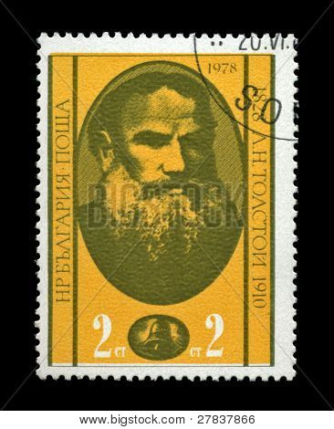 Bulgaria - Circa 1978: Cancelled Stamp Printed In Bulgaria, Shows Famous Russian Writer Leo Tolstoy,