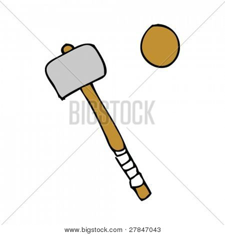 drawing of a croquet mallet
