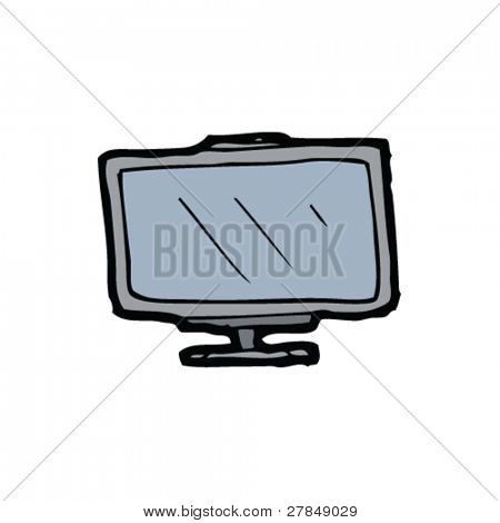 quirky drawing of a flatscreen tv