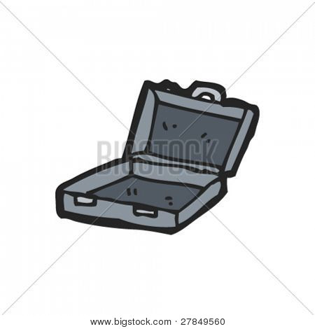 drawing of an open case
