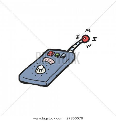 quirky drawing of a scientific remote