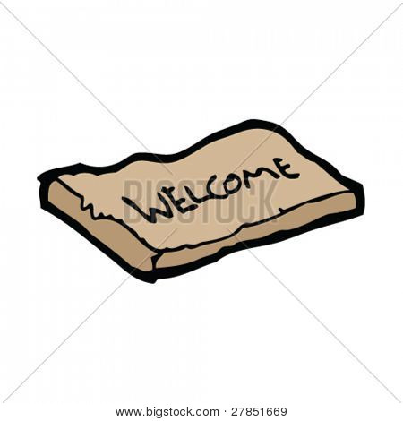 welcome mat drawing