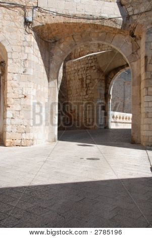 Textured European Stone Passageway