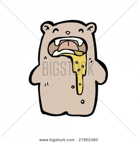 gross bear cartoon