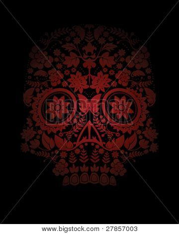 Day of the dead skull backdrop