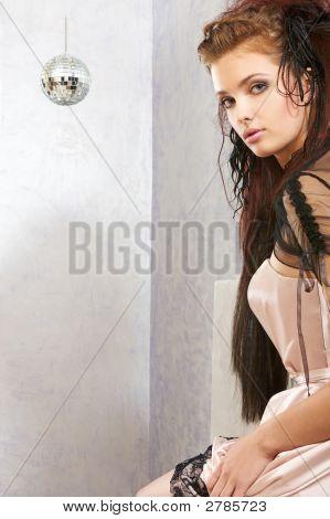 Girl And Disco Ball