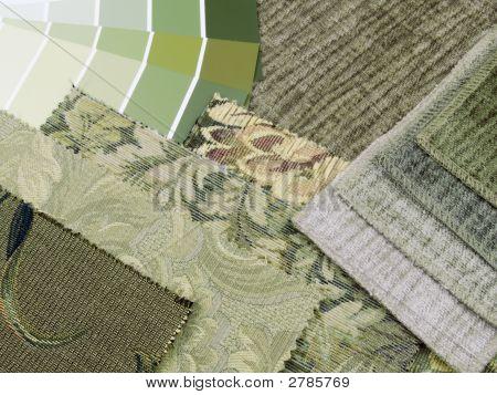 Green Print Interior Decoration Plan