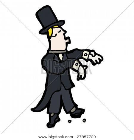 ballroom dancing man cartoon