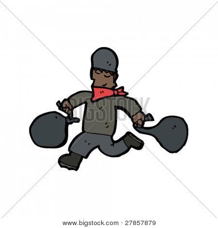 Bancos Dibujos Animados Dibujos Animados de Ladrón de