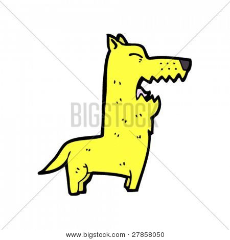yellow dog cartoon