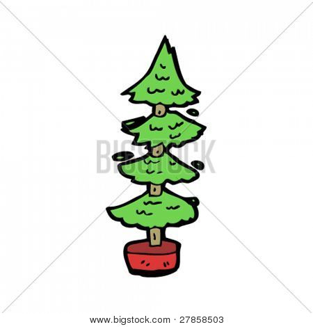 poor christmas tree cartoon
