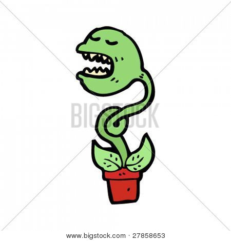 talking venus flytrap cartoon
