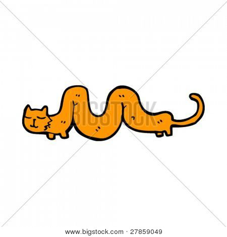 long wiggly cat cartoon