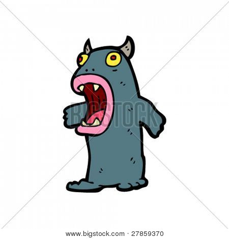 shocked monster cartoon