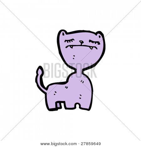 purple cat cartoon