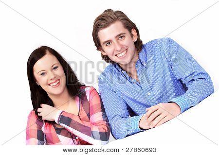 Happy Couple Listening