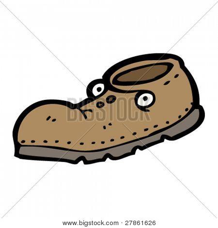 Old Shoe Cartoon Vecto...