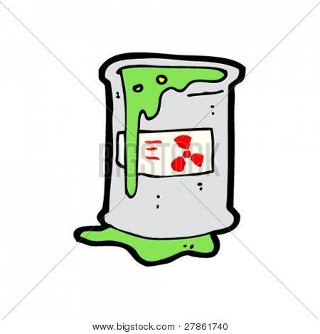 spilled toxic waste cartoon