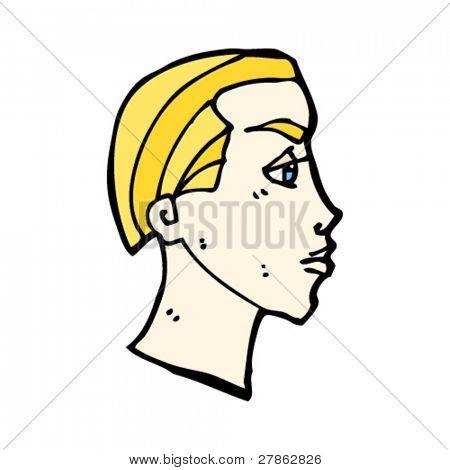 dibujos animados de cabeza de hombre rubio