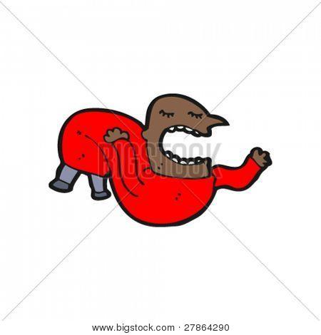 cartoon bendy homem