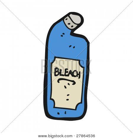 bottle of bleach cartoon