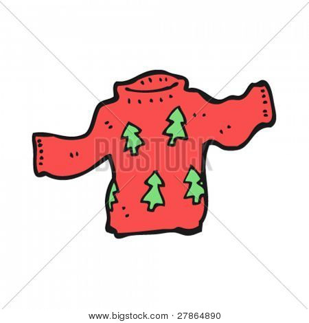 christmas jumper cartoon