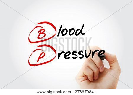 Bp Blood Pressure Acronym With