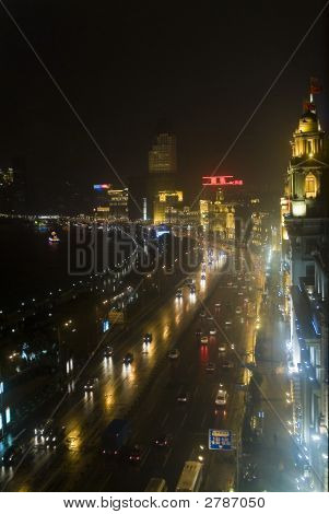 The Bund At Night Shanghai