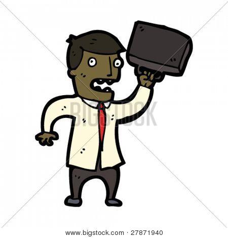 angry businessman cartoon