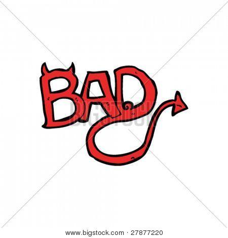 Devilish Word Bad Cartoon