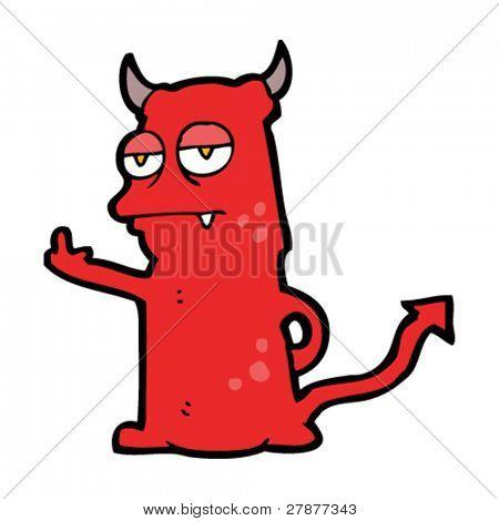 rude little devil cartoon