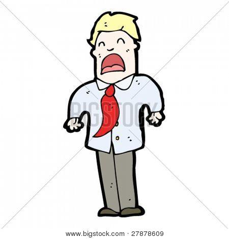 cartoon businessman complaining