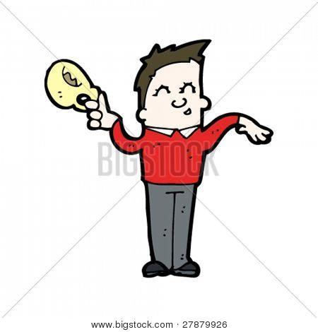 effeminate cartoon man with teacup
