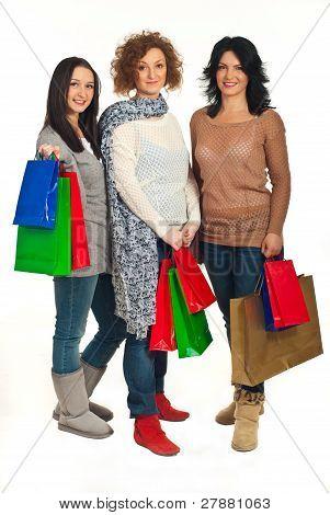 Full Length Of Beauty Shoppers Women