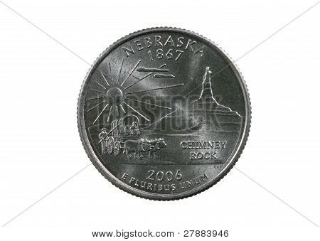 Isolated Nebraska Quarter