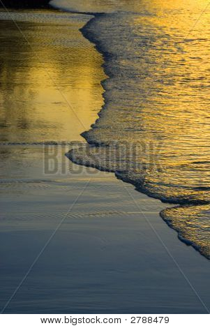 Golden Wave Ripples