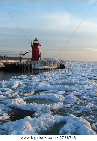 South Haven, Michigan In Winter
