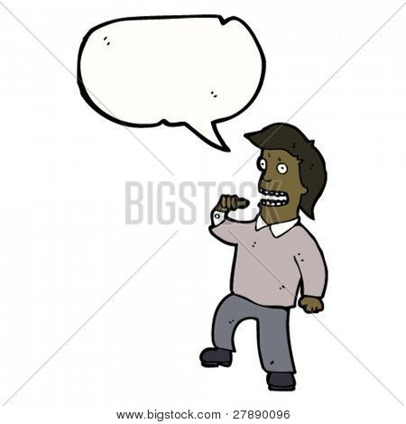cartoon man pointing at self with speech bubble