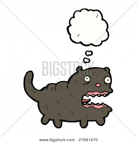cartoon fat ugly black cat