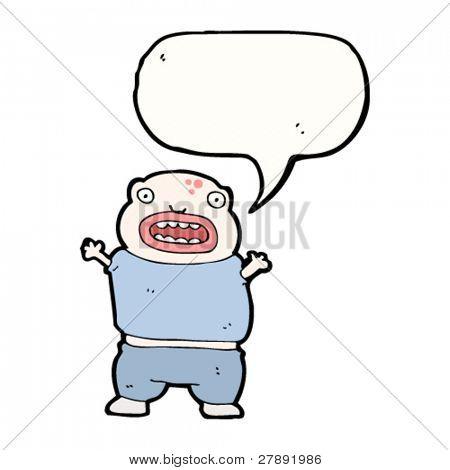 niño mutante ogro de dibujos animados