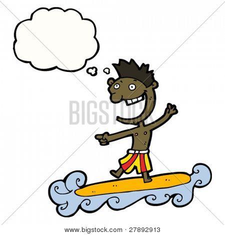 surfista de desenhos animados