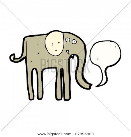 cartoon elephant with speech bubble