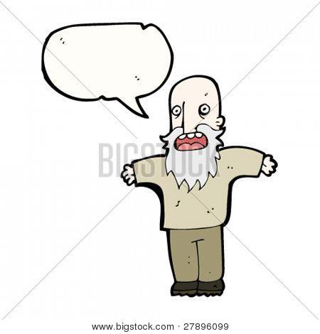cartoon old man complaining