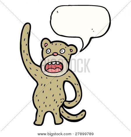 monkey scratching it's butt cartoon