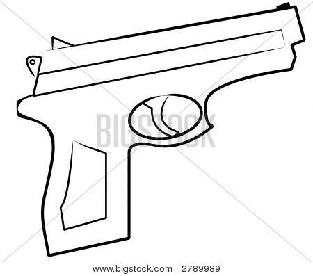 Hand Gun Outline