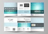 The Abstract Minimalistic Vector Illustration Of The Editable Layout. Two Creative Covers Design Tem poster