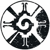 Vector Illustration For Mayan New Age Community: Hunab Ku, Symbol Of The One God. Esoteric Psychedel poster
